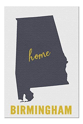 (Birmingham, Alabama - Home State - Gray on White (20x30 Premium 1000 Piece Jigsaw Puzzle, Made in USA!))