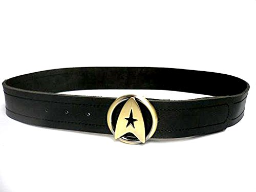 Oem Men's Star Trek Twok Leather Belt Buckle XL Gold -