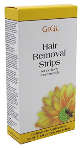 Gigi Strips Body Hair Removal 12 Strips (24 Applications) (3 Pack) by GiGi