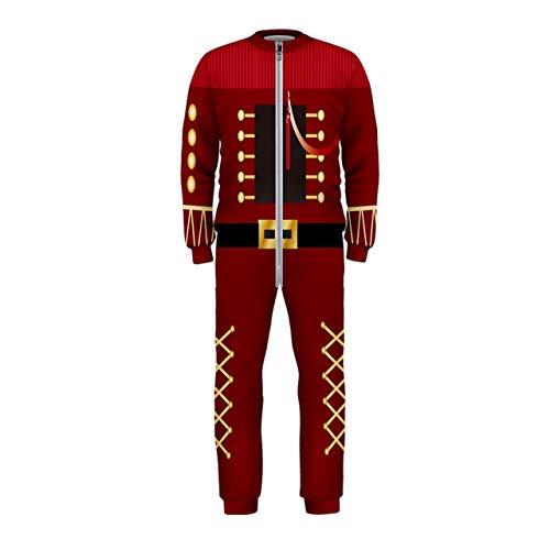 PattyCandy Girls/Boys Pajamas Nutcracker & Ugly Christmas Xmas Onesie Jumpsuit Sleeper Little & Big Kids Sleepwear