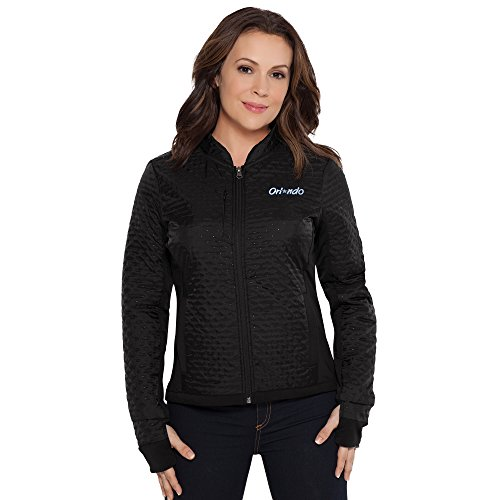 Touch by Alyssa Milano NBA Orlando Magic Adult Women Lead Off Jacket, Large, Black