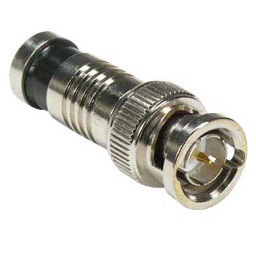 SF Cable, BNC Male Dual Shield RG6 Compression Connector Black