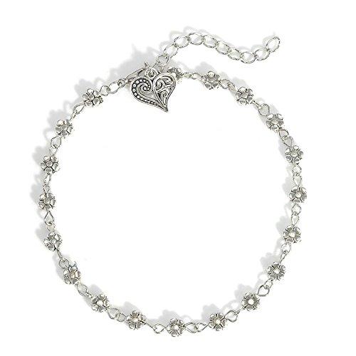 Ownsig Women's Boho Anklet Flower Heart Pendant Heart Pendant Anklet Bracelet Classic Trendy for cheap