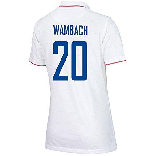トロイの木馬びんキャストNIKE WAMBACH #20 USA Home Soccer Jersey Women's 2014-15/サッカーユニフォーム アメリカ ホーム用 背番号20 ワンバック 2014-15 レディース向け