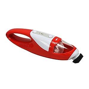 EVERTOP Mini Aspirateur portable sans fil et sans sac Aspirateur à main léger pour voiture Aspirateur de table Rouge (1500 PA)
