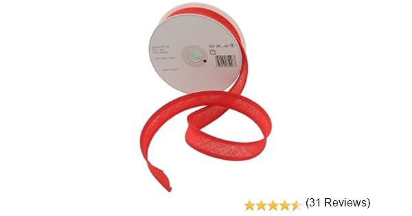 Inastri - Cinta bies de algodón, 25/5/ 5 mm, Color Rojo: Amazon.es ...