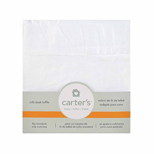 Amazon.com : Carters Solid Dust Ruffle, White Color: White, Model: 24513CL, Baby & Child Shop : Baby