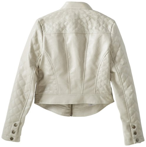 Collection B Big Girls' Faux Leather Jacket with Studs At Shoulders