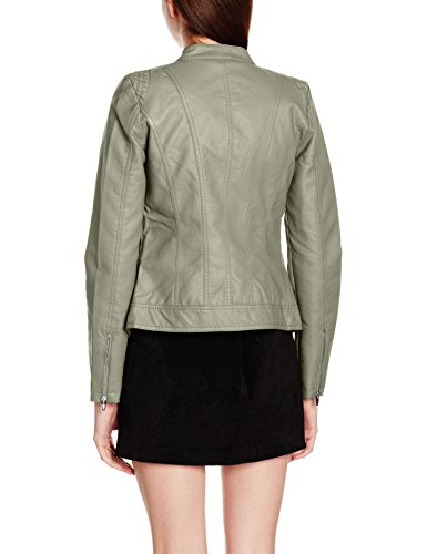 Leather Vetiver Blouson Vila Viaya Vert Faux Jacket Femme Noos pxqqawOZn7