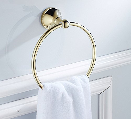 kahang ant 51 brass zirconium gold towel ring bath accessories