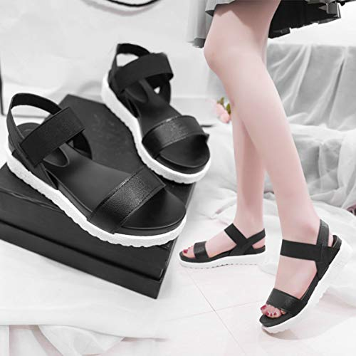 Fascia Aperte Scarpe Romana Piattaforma con a Scarpe estive Sandali Impermeabile Elastica Piatte e da Donna da Donna Punta Sandali wTBHq