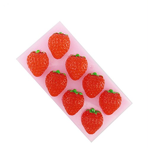 (SNW Strawberry Series Fondant Mold Soap Silicone Bakeware Chocolate Mold Cake Decoration)