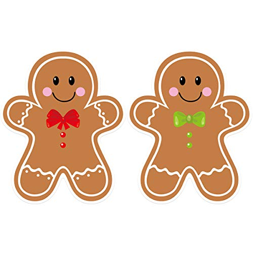 Gingerbread Cutouts 36Pcs for Candy Party Decoration Christmas Classroom Bulletin Board Supply 6