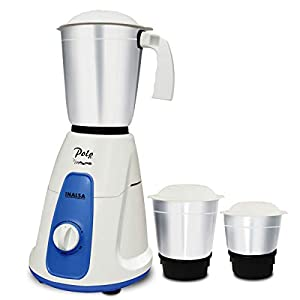 Inalsa Polo 550W Mixer Grinder with 3 Jars, White/Blue