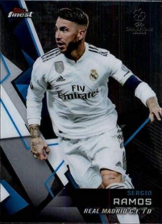 13af88f1ef8 2018-19 Finest UEFA Champions League #2 Sergio Ramos Real Madrid C.F. Soccer  Card