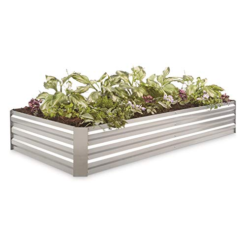 - CASTLECREEK Large Galvanized Steel Planter Box