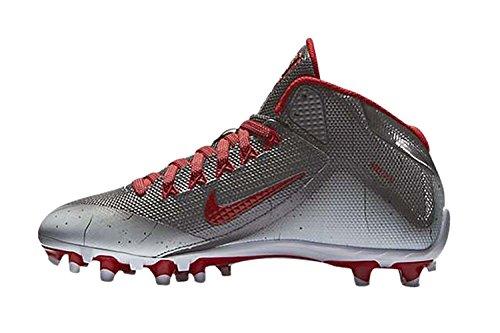 Nike Mens Alpha Pro 2 3/4 Td Tacchetti Da Calcio Metallizzati Grigio Scuro / Bianco / Rosso Università