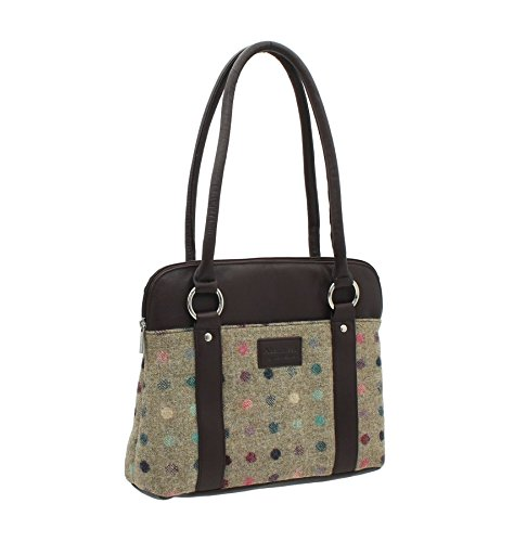 ABERTWEED Marine Leather Sac Brune en Collection et en Mala 40 Cuir à Tache Tweed 719 Bandoulière EBqgnxO