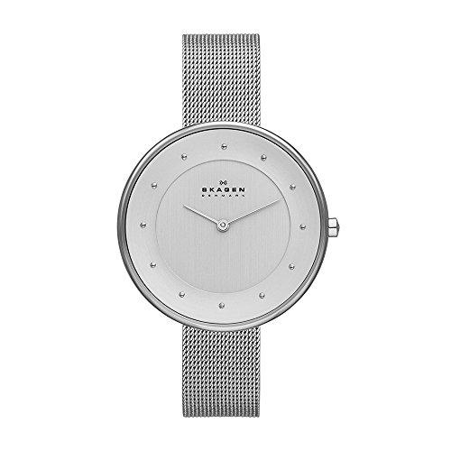 - Skagen Women's Gitte Quartz Stainless Steel Mesh Casual Watch, Color: Silver-Tone (Model: SKW2140)