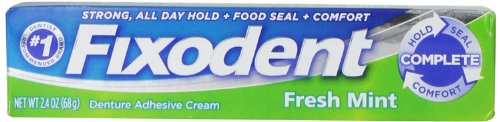 Fixodent Complete Fresh Mint Denture Adhesive Cream 2.4 Ounce ( Case of 24 )