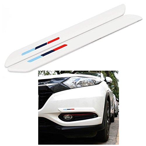 COSMOSS Car Front Rear Bumper Lip Spoiler 16 Inch White Protection Corner Pad
