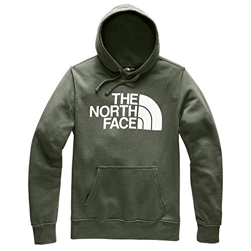 The North Face Half Dome Pullover Hoodie - Men's New Taupe Green Heather Small (North Face Equipment)