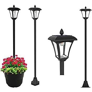 Amazon.com : Solar Charged LED Lamp Post Decorative Yard