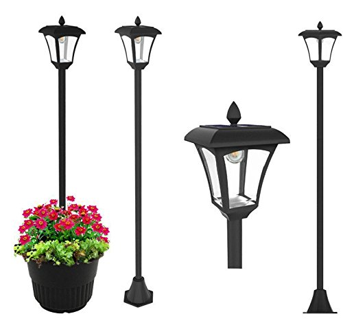 65'' Street Vintage Outdoor Garden LEDs Bulb Solar Lamp Post Light Lawn - Adjustable by Kanstar