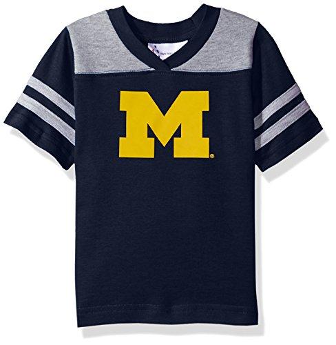 NCAA Michigan Wolverines Toddler Boys Football Shirt, Navy, 4 - Ncaa Michigan Wolverines Jersey