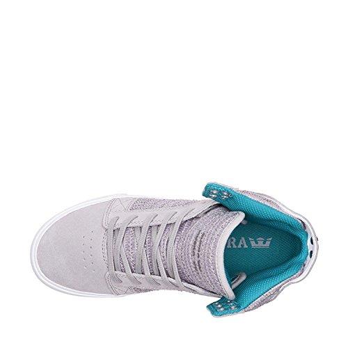 Baskets Skytop Light Hautes Supra White Womens Femmes Grey xO4E6