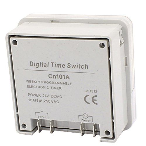 eDealMax CN101A AC/DC24V LCD Digital Power Programmable Timer Time Relay Switch by eDealMax (Image #3)