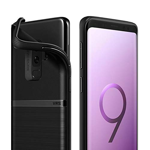 VRS DESIGN Galaxy S9 Plus Case, Slim Full Body Protective Armor [Black] Ultra Thin Fit for Samsung Galaxy S9 Plus [Single Fit]