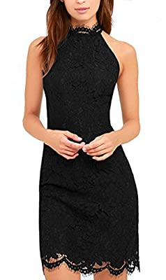 Zalalus Women's Cocktail Dress High Neck Lace Dresses for Special Occasions