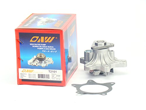 (OAW T2101 Engine Water Pump for 04-06 Scion XA XB, 00-05 Toyota Echo, 06-15 Yaris & 01-09 Prius 1NZFE 1.5L)