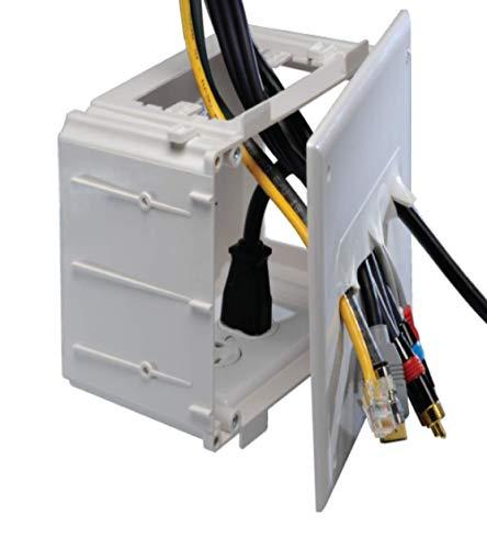 DataComm Electronics 45-0010-WH Recessed Media Box - White