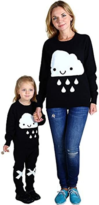 Wennikids Family Look Clothing for Mother//Daughter//Son Long-Sleeve T-Shirt Sweater