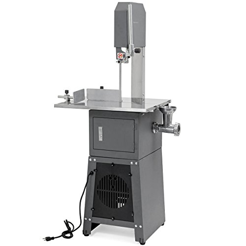 XtremepowerUS Professional Butcher Meat Cutting Cutter Band Saw Mincer Grinder Sausage Stuffer Maker - Meat Saw