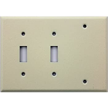 Plastic  bination Wall Plate also 261112015357 also 231971815685 also 111791292143 together with Leviton 80421 I. on 5 gang 4 toggle 1 decora switch plate ivory