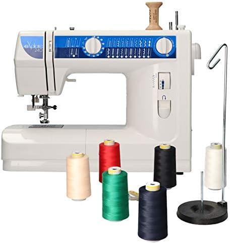 Elna 240 maquina de coser con kit costura Dioni 6 conos 5000metros ...