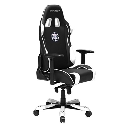 DX Racer DOH/KS181/NW/POKER Racing Bucket Seat Office Chair Comfortable Chair Ergonomic Chair Desk Chair Computer Chair (Black/White)