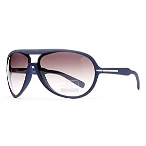 Aviator Sunglasses w/ Case UV Protection 400 Classic Style Gradient Lenses Thick Frame Gold Accent Slate Blue