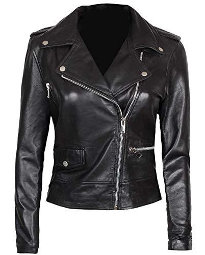 BlingSoul Leather Moto Jacket Women - Vintage | [1300187] Amber, 3XL