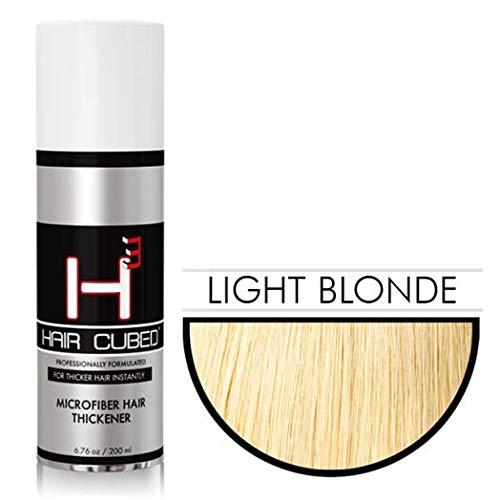 Hair Cubed® - Light Blond, Hair Building Fiber Spray -(Water Proof) Lasts 2 - 5 Months by Hair Cubed  Light Blonde Hair Fiber (WaterProof) (Image #6)