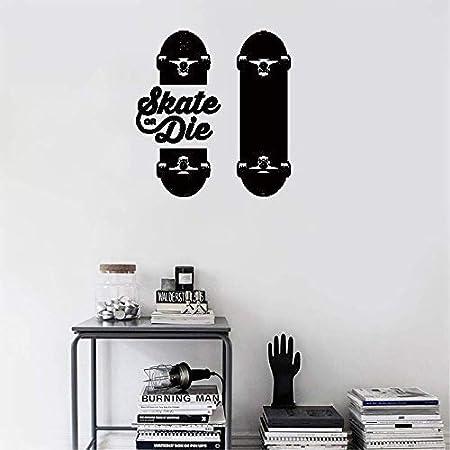 e4c5648ecf8d Evan332Eddie Vinyl Decal Quote Art Hone Wall Vinyl Sticker Mirror Decal  Slogan Skateboarders Skate Die Sport: Amazon.co.uk: Kitchen & Home