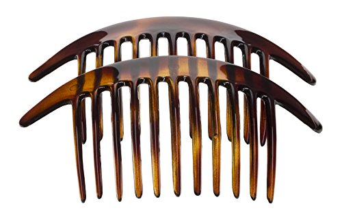 France Luxe Belle Interlocking Comb Pair - Tortoise