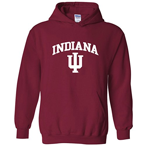 AH03 - Indiana Hoosiers Arch Logo Hoodie - X-Large - Cardinal