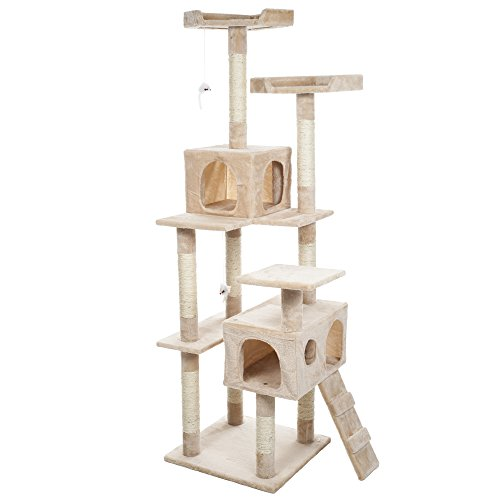 PETMAKER Skyscraper Sleep and Play Cat Tree, 5.5', ()