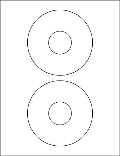 200 CD / DVD Disc Labels 5931 & 8931 Compatible 100 2-Up Matte White Sheets