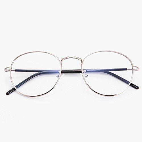 marco anti hombres marea Frame Pingguang con un personalidad Bright Network redondeado Silver para y dorado gafas red bastidor cuadro STAR gafas azul mujeres Gafas KOMNY brillante Tw8Rzx
