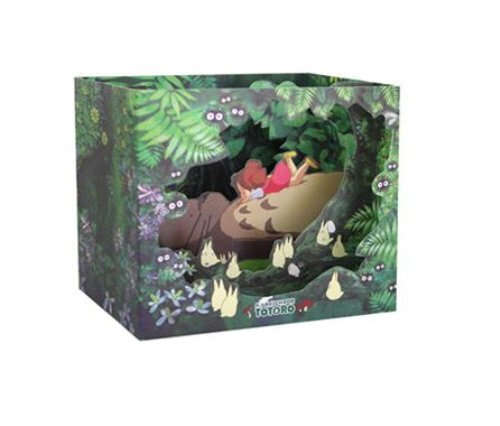 Studio Ghibli Characters Dimensional Cards Diorama 4 Types Limited Edition - My Neighbor Totoro, Kiki's Delivery Service, Spirited Away, Ponyo on the Cliff By the Sea (My Neighbor Totoro)